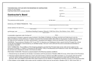 California Contractor License Bond